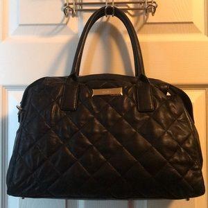 DKNY Black leather purse.